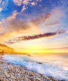 Seashore e céu Fotografia de Stock
