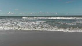 Seashore on a European beach stock video footage