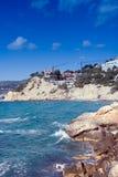 seashore för byggnadskonstruktion Royaltyfri Foto