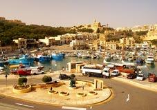 Seashore of the Gozo Island. GOZO ISLAND, MALTESE ISLANDS ,EUROPE - DECEMBER 5, 2014. Seashore of the Gozo Island , one of the most visited island of Maltese Stock Photos