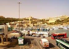 Seashore of the Gozo Island. GOZO ISLAND, MALTESE ISLANDS ,EUROPE - DECEMBER 5, 2014. Seashore of the Gozo Island , one of the most visited island of Maltese Royalty Free Stock Photo