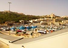 Seashore of the Gozo Island. GOZO ISLAND, MALTESE ISLANDS ,EUROPE - DECEMBER 5, 2014. Seashore of the Gozo Island , one of the most visited island of Maltese Royalty Free Stock Photography