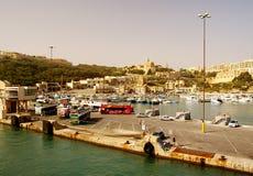 Seashore of the Gozo Island. GOZO ISLAND, MALTESE ISLANDS ,EUROPE - DECEMBER 5, 2014. Seashore of the Gozo Island , one of the most visited island of Maltese Stock Photography