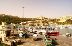 Seashore of the Gozo Island , one of the most visited island of Maltese Islands Stock Images