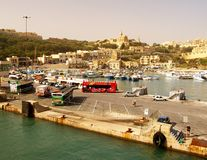 Seashore of the Gozo Island , one of the most visited island of Maltese Islands Stock Photos