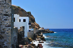 Seashore in a Greek village Royalty Free Stock Photography