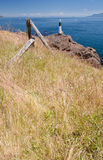 Seashore, Gulf Islands National Park Reserve. A large boulder at Gowlland Point, Pender Island, Gulf Islands National Park Reserve, British Columbia, Canada Stock Image