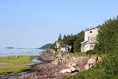 Seashore houses in summer Royalty Free Stock Photo