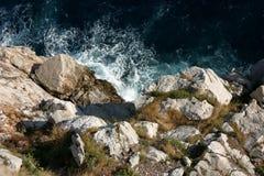 Seashore i Kroatien Fotografering för Bildbyråer