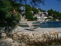 Seashore i Kroatien Arkivbild