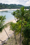Seashore on the island of Sentosa in Singapore Stock Photography