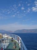 Seashore at Ithaka, Greece. Seashore view at Ithaka, Greece from boat Stock Images