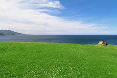 Seashore landscape. Landscape by the cantabric sea royalty free stock photo