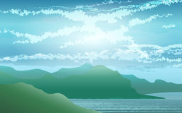 Seashore Landscape Stock Images