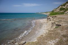 Seashore landscape of Rhodes island, Greece Royalty Free Stock Photos