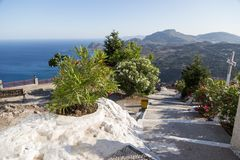 Seashore landscape of Rhodes island, Greece Royalty Free Stock Image