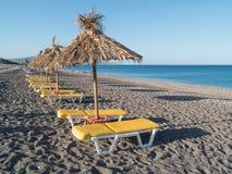 Seashore landscape of Rhodes island, Greece Stock Photo