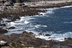 Seashore landscape White waves. / Izu peninsula , Shizuoka Prefecture Japan royalty free stock photos