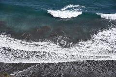 Seashore landscape White waves royalty free stock images