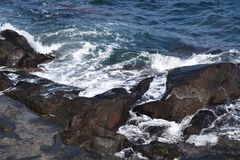 Seashore landscape White waves stock images