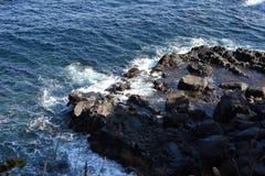 Seashore landscape White waves royalty free stock photography