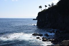 Seashore landscape White waves stock photography