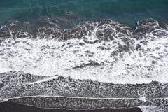 Seashore landscape White waves royalty free stock photo
