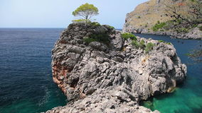 Seashore of Mallorca Island, Balearic Islands, Spain stock footage