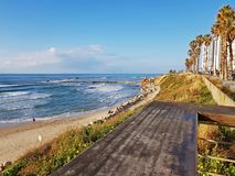 Seashore of Mediterranean Sea,Bat Yam, Israel Royalty Free Stock Images