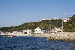 Seashore miasteczka głąbik Obrazy Royalty Free