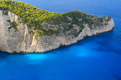 Navagio. Seashore near famous Navagio beach in Zakynthos, Greece Royalty Free Stock Photo