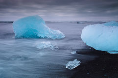 Seashore near Jokulsarlon Royalty Free Stock Photos