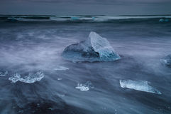 Seashore near Jokulsarlon Royalty Free Stock Images
