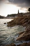Seashore of old city Stock Photography