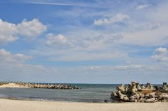 Seashore, pachwina, niebo, cloudscape zdjęcia stock