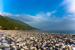 Seashore with pebble Royalty Free Stock Photo
