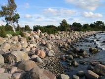 Seashore perto de tallinn, Estónia Imagem de Stock Royalty Free