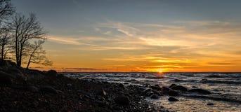 Seashore Photo Shot during Sunset Stock Photography