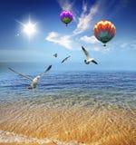 seashore piękna spokojna jasna krystaliczna woda Zdjęcie Stock