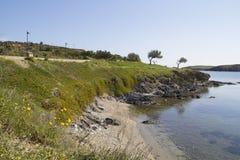 Seashore in Portlligat, Catalonia, Spain Stock Photos