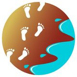 Seashore prints. Isolated illustrated design Royalty Free Stock Images