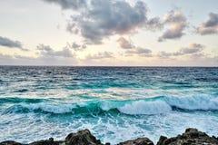 Seashore przy Cancun, Meksyk Zdjęcie Stock