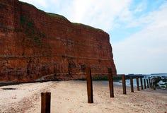 Seashore przy heligoland wyspą Fotografia Stock