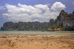 Seashore at Railay bay, Krabi province, Thailand Stock Photography