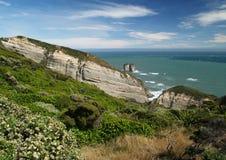 Seashore rock landscape Stock Photos