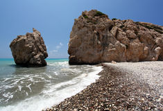 Seashore and rocks Stock Image