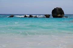 Seashore rocks. Rocks on the Bermuda shore Stock Image