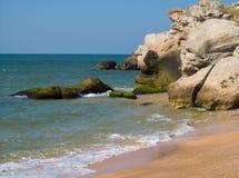 Seashore with rocks Stock Photo