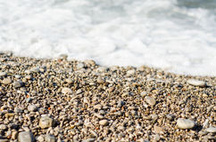 Seashore rocky sand Stock Photo