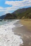 Seashore. Seacoast in the morning weather , Black Sea Royalty Free Stock Photo